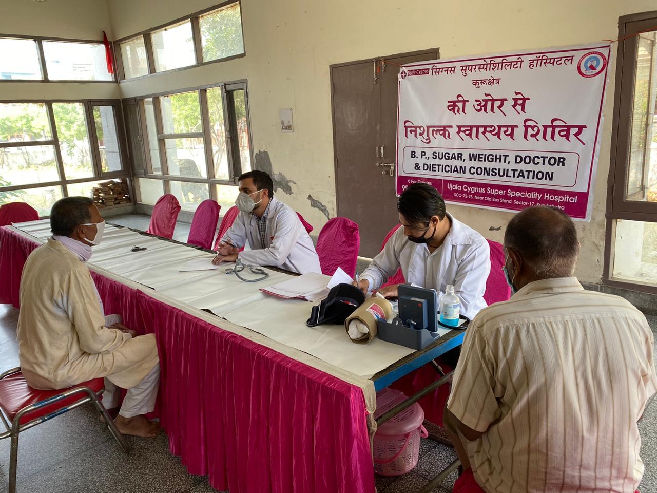 Health Camp At RWA association, Kurukshetra